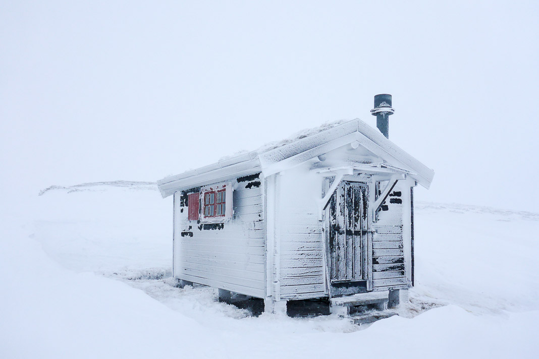 A tiny ice coated home for the night.